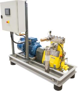 Højtrykspumpe med tilhørende el-skab
