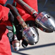 3 rotor dyser i forskellige størrelser monteret på slanger vises i produkter