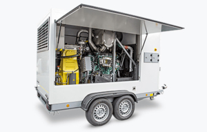 Højtryksanlæg monteret på trailer - Leje af højtryksrenser