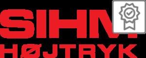 Sihm Højtryk logo som vises i download
